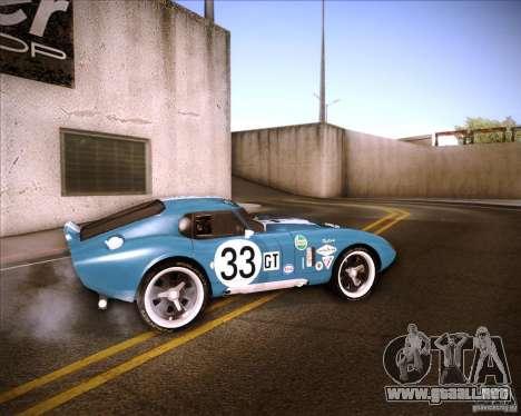 Shelby Cobra Daytona Coupe 1965 para GTA San Andreas left