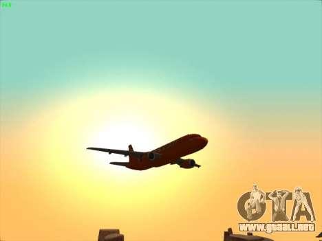 Airbus A320-214 EasyJet 200th Plane para vista inferior GTA San Andreas