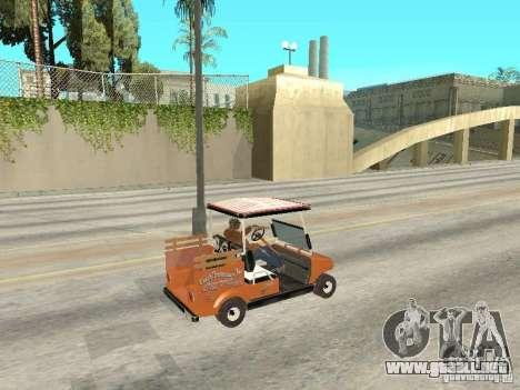 Golfcart caddy para GTA San Andreas vista posterior izquierda