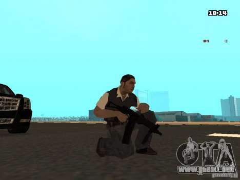 No Chrome Gun para GTA San Andreas quinta pantalla