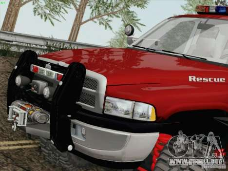 Dodge Ram 3500 Search & Rescue para GTA San Andreas left