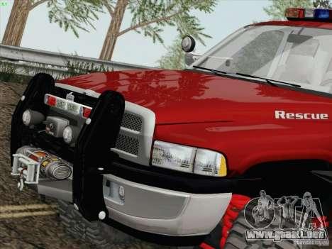 Dodge Ram 3500 Search & Rescue para GTA San Andreas left