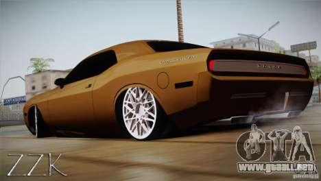Dodge Challenger Socado Com Rotiform FIXA para GTA San Andreas left