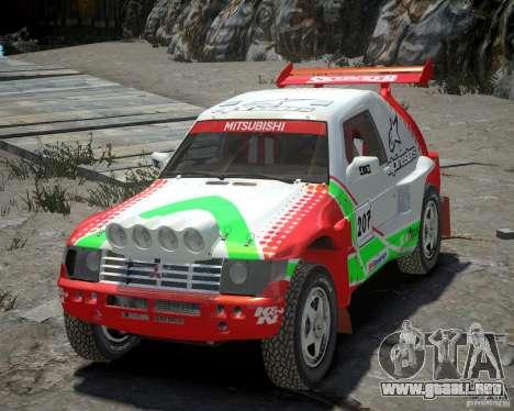 Mitsubishi Pajero Proto Dakar EK86 vinilo 2 para GTA 4