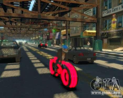 Motocicleta del trono (neón rojo) para GTA 4 Vista posterior izquierda
