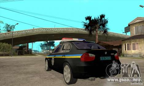 BMW 3 Series DPS para GTA San Andreas vista posterior izquierda
