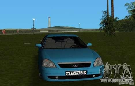 Lada Priora Hatchback v2.0 para GTA Vice City vista posterior