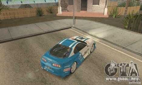 Toyota Supra Tunable 2 para vista inferior GTA San Andreas