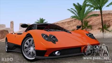 Pagani Zonda F para la vista superior GTA San Andreas