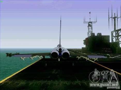 Eurofighter-2000 Typhoon para GTA San Andreas vista posterior izquierda