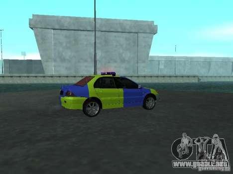 Policía de Mitsubishi Lancer para la visión correcta GTA San Andreas
