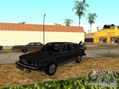 BMW 535is E28 para GTA San Andreas vista hacia atrás
