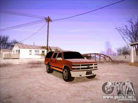 Chevrolet Suburban 1998 para GTA San Andreas vista hacia atrás