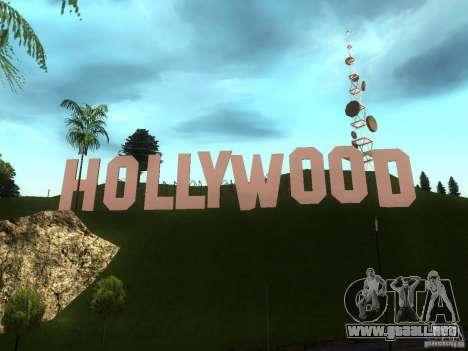 El Hollywood Sign para GTA San Andreas segunda pantalla
