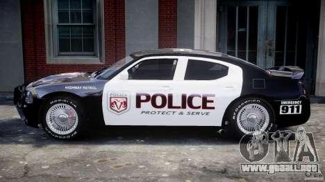 Dodge Charger SRT8 Police Cruiser para GTA 4 Vista posterior izquierda
