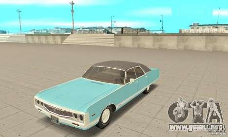 Chrysler New Yorker 4 Door Hardtop 1971 para GTA San Andreas
