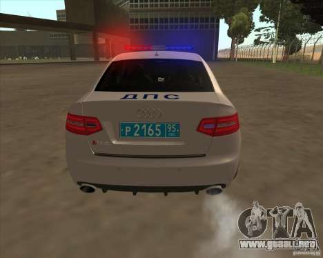 Audi RS6 2010 DPS para vista lateral GTA San Andreas