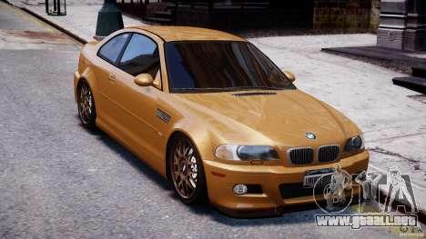 BMW M3 E46 Tuning 2001 v2.0 para GTA 4 vista interior