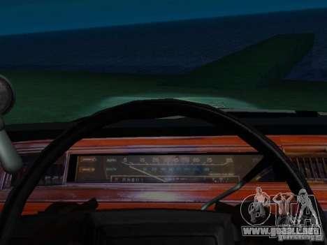 Ford Crown Victoria LTD 1992 SFPD para visión interna GTA San Andreas