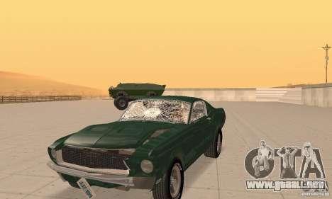 Ford Mustang Bullitt 1968 v.2 para visión interna GTA San Andreas