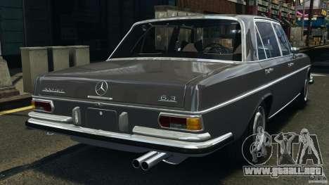 Mercedes-Benz 300Sel 1971 v1.0 para GTA 4 Vista posterior izquierda