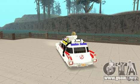 Ghostbusters ECTO 1 para GTA San Andreas left