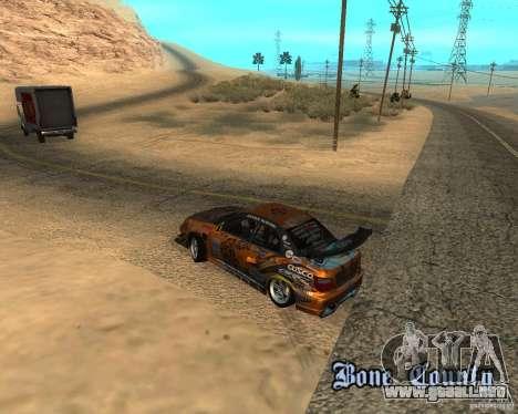 Subaru Impreza WRX Team Orange DRIFT SA-MP para GTA San Andreas vista hacia atrás