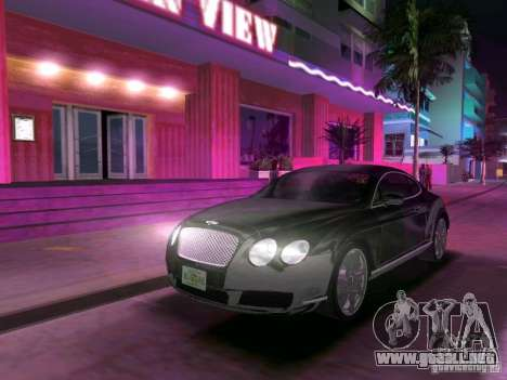 Bentley Continental GT para GTA Vice City vista posterior