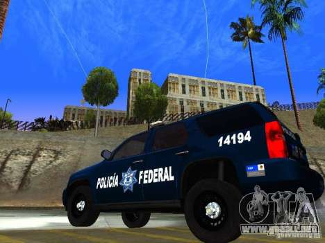 Chevrolet Tahoe 2008 Police Federal para GTA San Andreas left