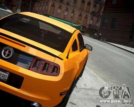 Ford Mustang Boss para GTA 4 Vista posterior izquierda