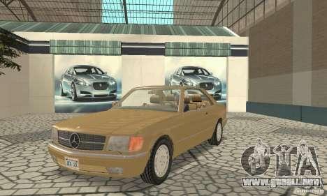 Mercedes-Benz W126 560SEC para GTA San Andreas left