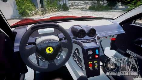 Ferrari 599 XX para GTA 4 vista hacia atrás
