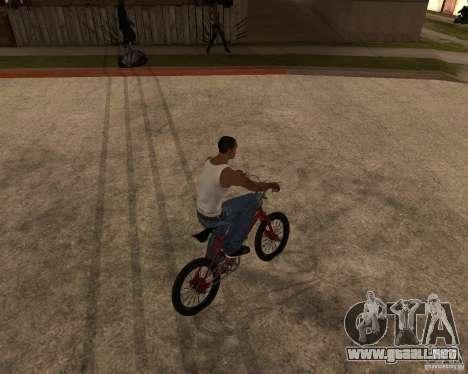 X-game BMX para GTA San Andreas vista posterior izquierda