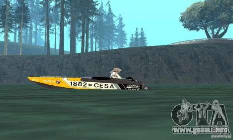 Cesa Offshore para GTA San Andreas vista posterior izquierda