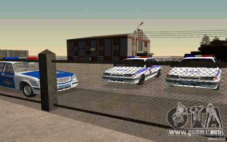 Vaz 2114 PSB policía para la visión correcta GTA San Andreas
