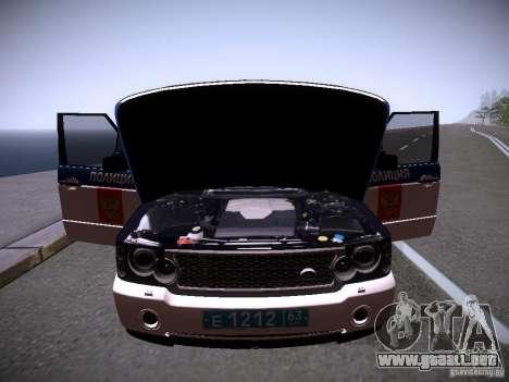 Range Rover Supercharged 2008 policía Departamen para el motor de GTA San Andreas