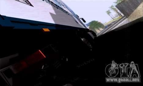 Volvo F10 para GTA San Andreas vista hacia atrás