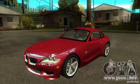 BMW Z4 - Stock para GTA San Andreas
