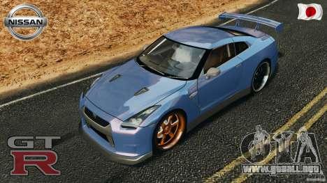 Nissan GT-R 35 rEACT v1.0 para GTA 4 vista desde abajo