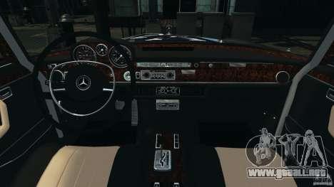 Mercedes-Benz 300Sel 1971 v1.0 para GTA 4 vista hacia atrás