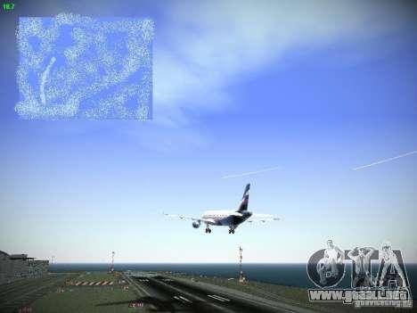 Aeroflot Russian Airlines Airbus A320 para vista lateral GTA San Andreas