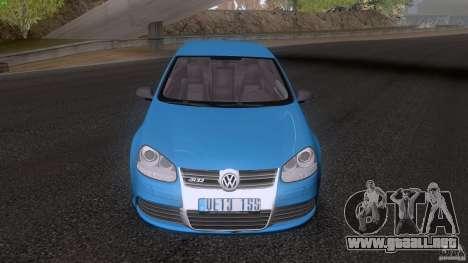 VW Golf 5 R32 2006 StanceWorks para GTA San Andreas vista posterior izquierda