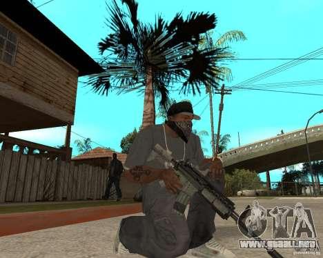 M4A1 con vista kolliminotarnym. para GTA San Andreas segunda pantalla
