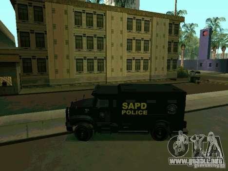 Stokade SAPD SWAT Van para GTA San Andreas left
