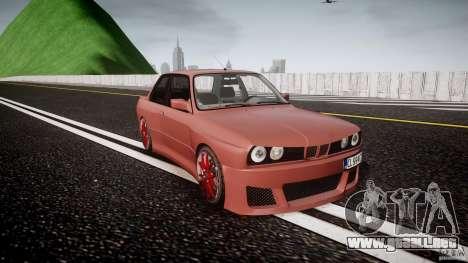 BMW E30 v8 para GTA 4 vista hacia atrás