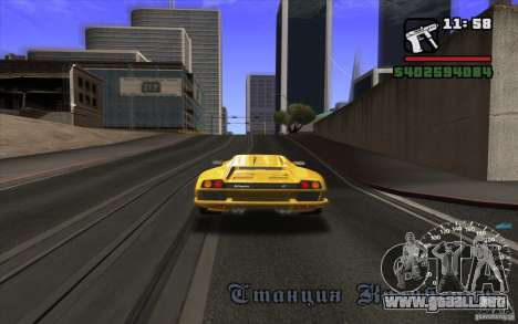 Lamborghini Diablo SV para GTA San Andreas vista hacia atrás