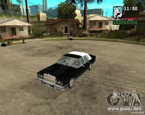 Lincoln Town Car 1986 para GTA San Andreas left