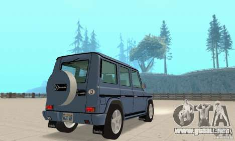 Mercedes-Benz G500 1999 v 1.1 no kengurâtnika para GTA San Andreas left