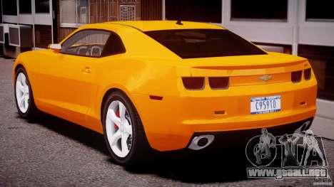Chevrolet Camaro SS 2009 v2.0 para GTA 4 vista desde abajo