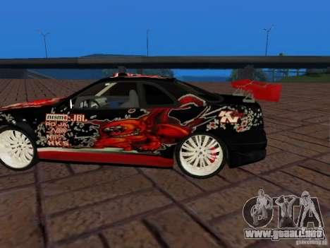 Nissan Skyline GT-R R34 Tunable para GTA San Andreas vista hacia atrás